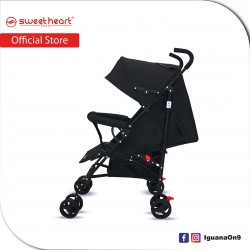 Sweet Heart Paris BG103 Durable Oxford Fabric Buggy Stroller with Umbrella Fold (Black)