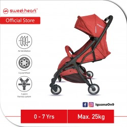Sweet Heart Paris Compact Stroller Savannah 2.0 with Free Travel Bag (Red)