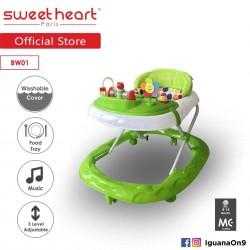 'Sweet Heart Paris Baby Walker BW01 (Green) With 3 Height Adjustment'
