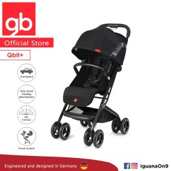 gb QBIT+ Stroller (Satin Black) - The Luxury Traveller (gb Malaysia Official)