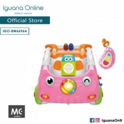 Iguana Online 3 in 1 Discovery Car Walker with Stable Base Motor Training and Music(Pink)