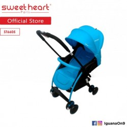 Sweet Heart Paris Compact ST6605 Parent-Facing Stroller (Blue) with Reversible Handlebar