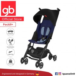 gb Pockit Plus Stroller (SAPPHIRE BLUE) - World Lightweight Cabin Size Stroller with Reclining Seat'
