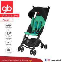 'gb Pockit Plus Stroller (LAGUNA BLUE) - World Lightweight Cabin Size Stroller with Reclining Seat'