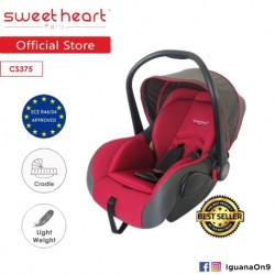 Sweet Heart Paris CS375 Baby Car Seat (Red) with Adjustable Canopy