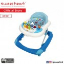 'Sweet Heart Paris Baby Walker BW1001 (Blue) With Crystal Wheel'
