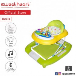 'Sweet Heart Paris Baby Walker Rocker BW1015 (Green) With Music and Food Tray'