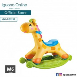 Iguana Online 2 in 1 Giraffe Rocker and Ride On Car with Music and Vibration Sensor