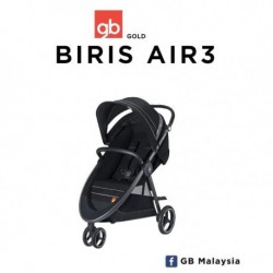 gb BIRIS AIR 3 (Monument Black) Three Wheel Baby Stroller (gb Malaysia Official)
