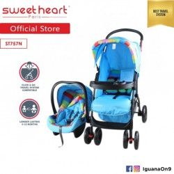 Sweet Heart Paris ST757N Easy Folding Mechanism Travelling System Stroller (Blue)