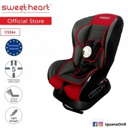 Sweet Heart Paris CS266 Safety Car Seat (Red) with Comfort Padded'
