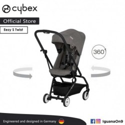 CYBEX GOLD EEZY S TWIST Stroller(Manhattan Grey) With 360 Degree Rotation- Cybex Malaysia Official Store'