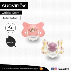 Suavinex BPA Free 18+ Months Fusion Anatomical Soother Pacifier Set (Pink Indian + Pink Feather)