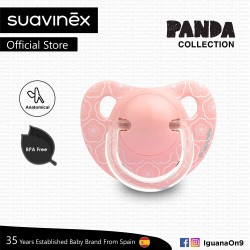Suavinex Panda Collection BPA Free 0 - 6 Months Anatomical Soother Pacifier (Pink Flower)