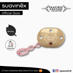 'Suavinex Couture Collection BPA Free Premium Soother Pacifier Clip (Pink)'