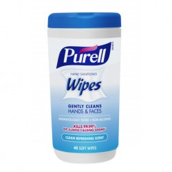 PURELL Non-Alcohol Cottony Soft Sanitizing Wipes - Refreshing Scent (40 Wipes)