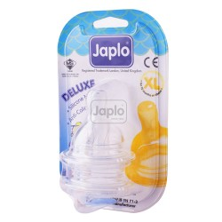 Japlo Deluxe Silicone Teat - (2 Pcs / Blister Card)-Xl