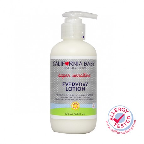 California Baby Super Sensitive Everyday Lotion 6.5oz (Improved Version)