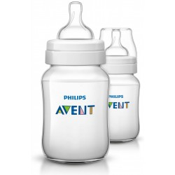 Philips Avent Classic+ Feeding Bottle 9Oz/260Ml (Twin Pack)