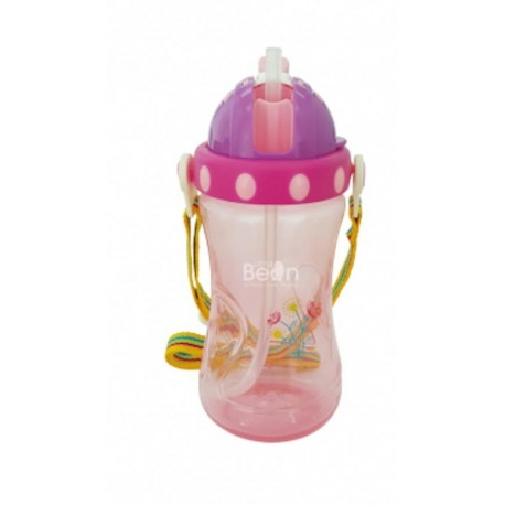 Little Bean 360ml/12oz PP Drinking Cup with Belt (Green)