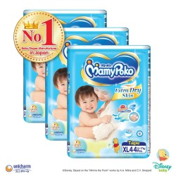 MamyPoko Extra Dry Skin Tape XL (12-17kg) 44 x 3 packs 132 Pcs