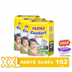 Pet Pet Comfort Pants XXL34 x 3 Packs (FOC Food Container)
