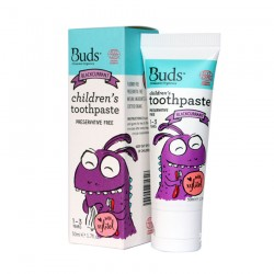 Buds Oralcare Organics Children's Toothpaste with Xylitol 50ml - Blackcurrant