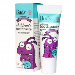 Buds Oralcare Organics Children's Toothpaste with Flouride 50ml - Blackcurrant