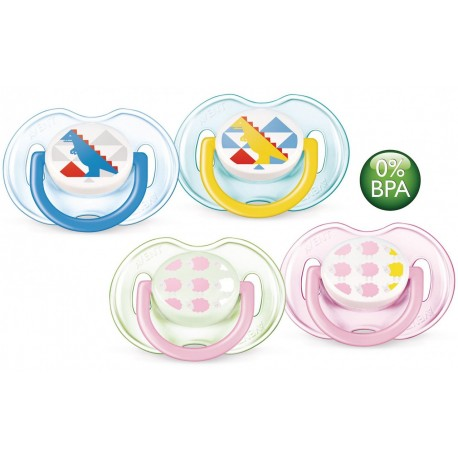Philips Avent Soother Fashion Range (0-6 Month) Twin Pack