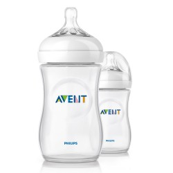 Philips Avent Natural Bottle 11oz/330ml (Twin Pack)