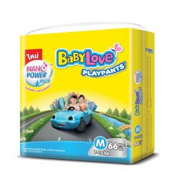 Baby Love Diapers Play Pants Nano Power Plus - M 66pcs (Single Pack)