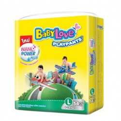 Baby Love Play Pants Nano Power Plus - L 54pcs (Single Pack)