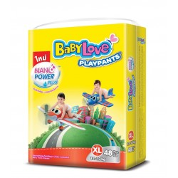 Baby Love Diapers Play Pants Nano Power Plus - XL 48pcs (4 Packs)