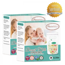 Autumnz Double ZipLock Breastmilk Storage Bag *7oz* (28 bags-Twin Pack)