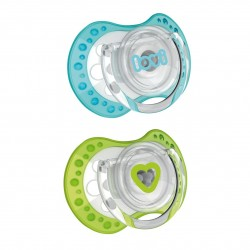 'Lovi 2Pcs Dynamic Soother (Spark) 3-6m - Blue  and  Green'