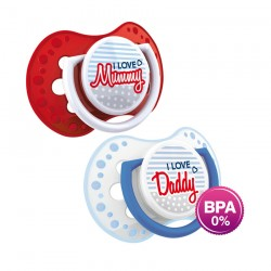 'Lovi 2Pcs Dynamic Soother (Marine) 3-6m - Mummy  and  Daddy'