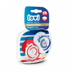 'Lovi 2Pcs Dynamic Soother (Marine) 3-6m - Anchor  and  Boat Set'