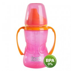 'Lovi 250 ml Non-Spill Firm Spout 12+Month-Pink'