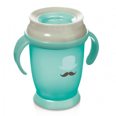 Lovi 360 cup RETRO with handles  (250 ml) JUNIOR -mint