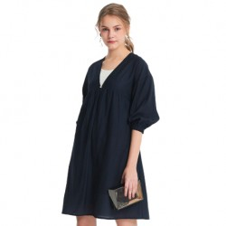 Mamaway Lantern Sleeve 2 Piece Maternity and Nursing Dress (Blue)