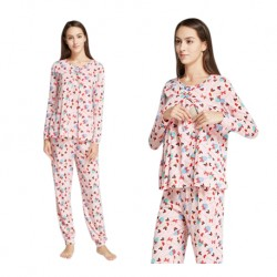 Mamaway Minnie Lollipop Maternity & Nursing Pajamas/Sleepwear Set Baju Tidur (PINK)