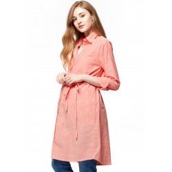 Mamaway Chambray Maternity & Nursing Shirt Dress (Pink)