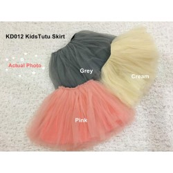 Mamma Palace Kids Soft Tulle / Tutu Skirt (Good Quality)  - Grey
