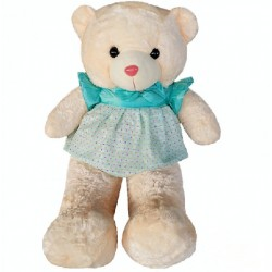 Maylee Big Plush Teddy Bear with Skirt Greenish Blue 100cm
