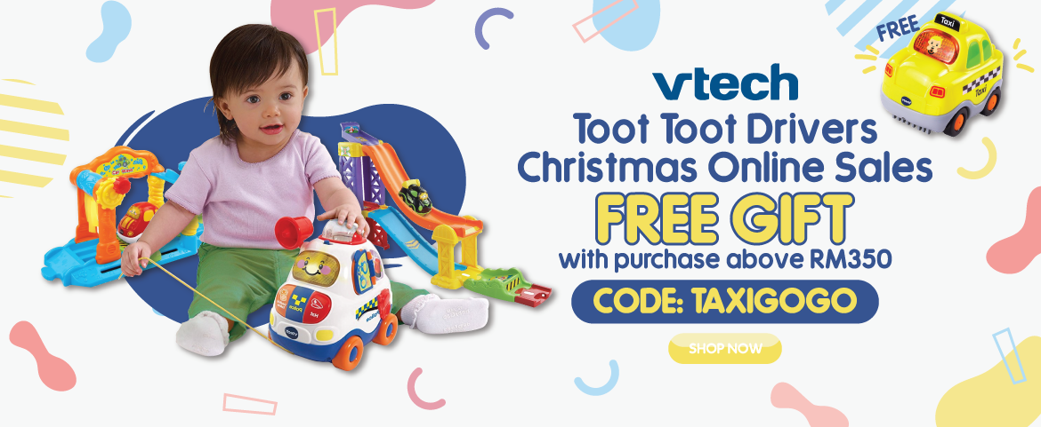 FREE Vtech Taxi Go Go Smart Wheels with purchase above RM350