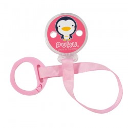 PUKU Baby Pacifier Soother Chain Strap Pink P11107