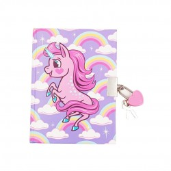 Inky Unicorn Lockable Journal