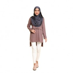 Mumsluv Madeena Nursing Tunic - Brown