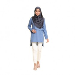 Mumsluv Madeena Nursing Tunic - Light Blue