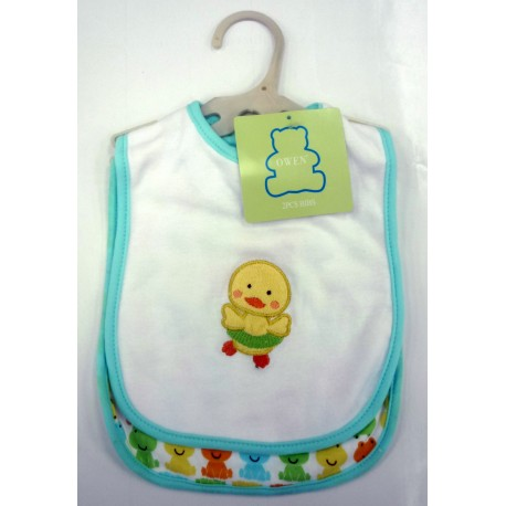 OWEN Baby Bib, 2 Piece Set - YELLOW